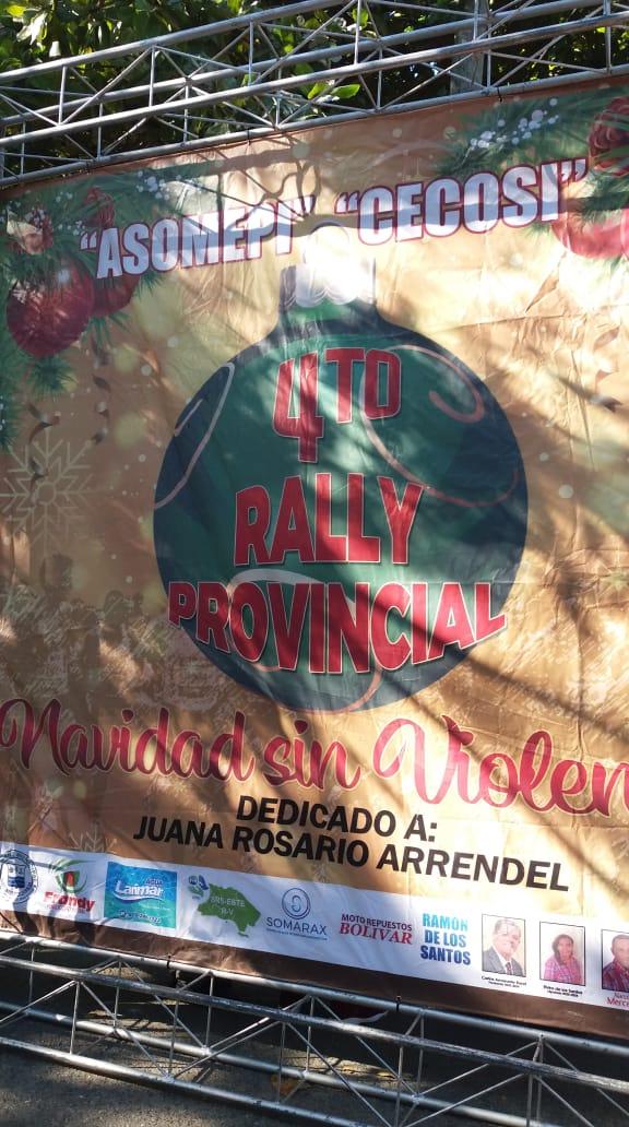 AYUNTAMIENTO DE SAN PEDRO DE MACORIS APOYA IV RALLY, NAVIDAD SIN VIOLENCIA
