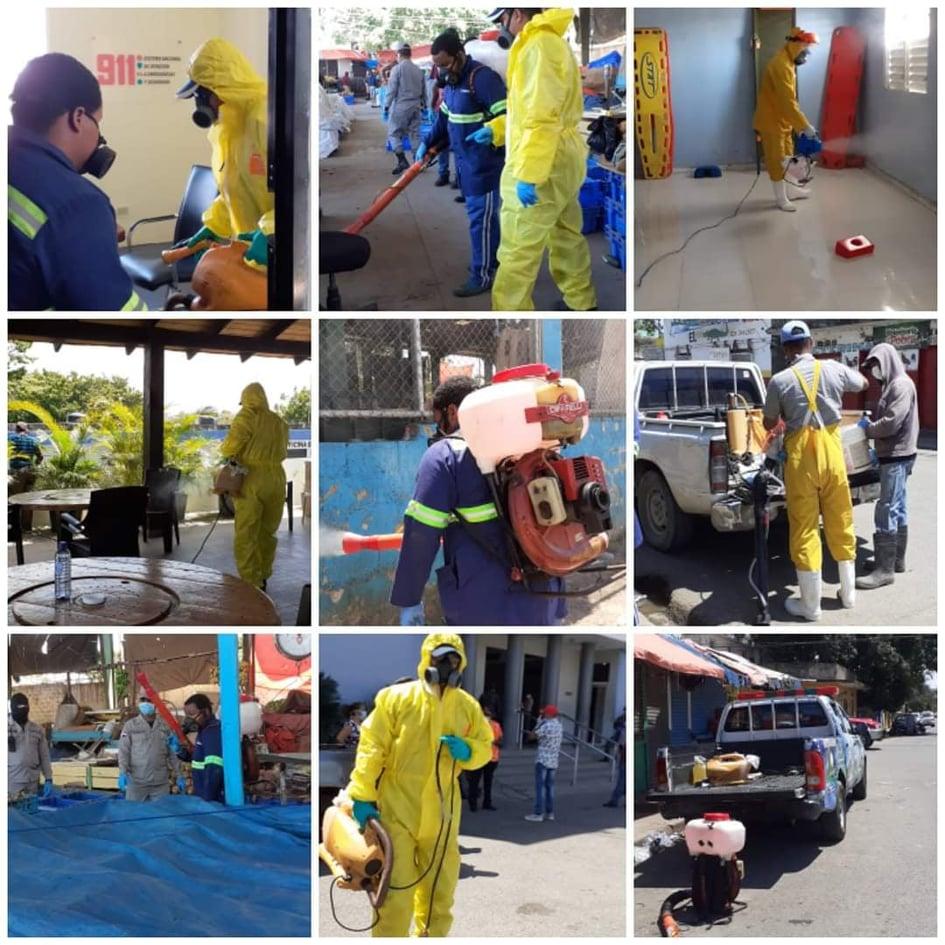 El Ayuntamiento de San Pedro de Macorís, inicia Operativo de Higienización y Desinfección de Instituciones ante contagio COVID19.