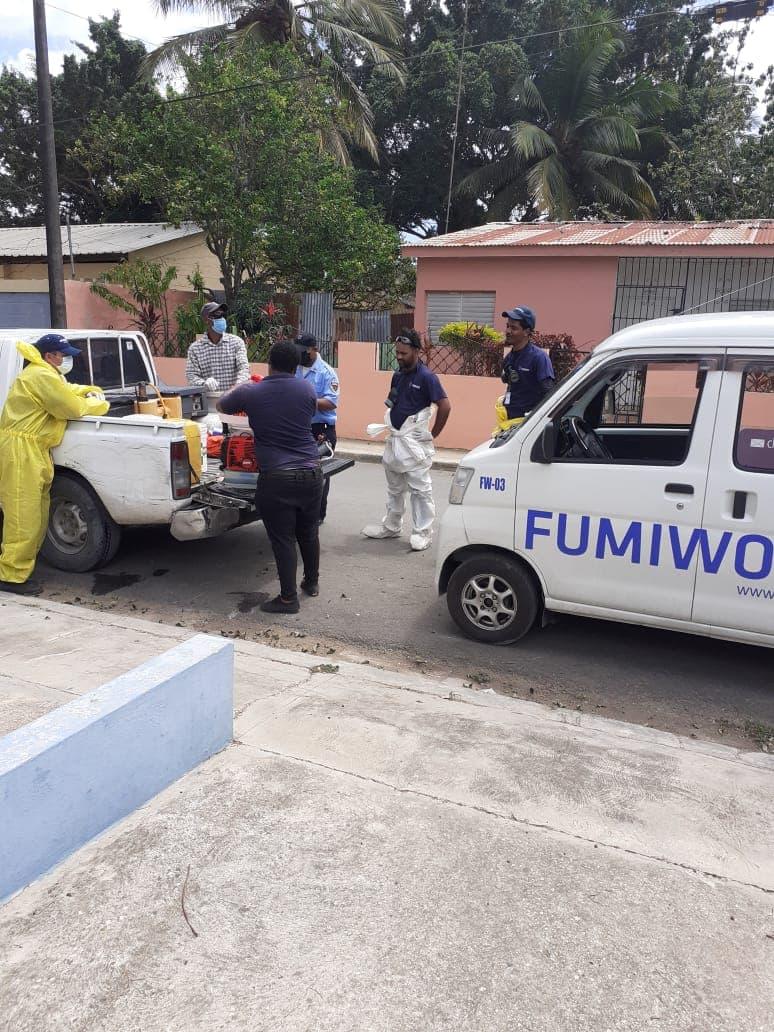 El Ayuntamiento de San Pedro de Macorís, continua Operativo de Higienización y Desinfección de Instituciones ante contagio COVID19.
