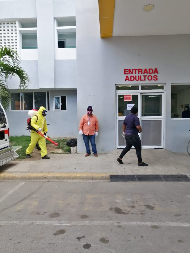El Ayuntamiento continua Operativo de Higienización y Desinfección de Instituciones ante contagio COVID19 en San Pedro de Macorís.