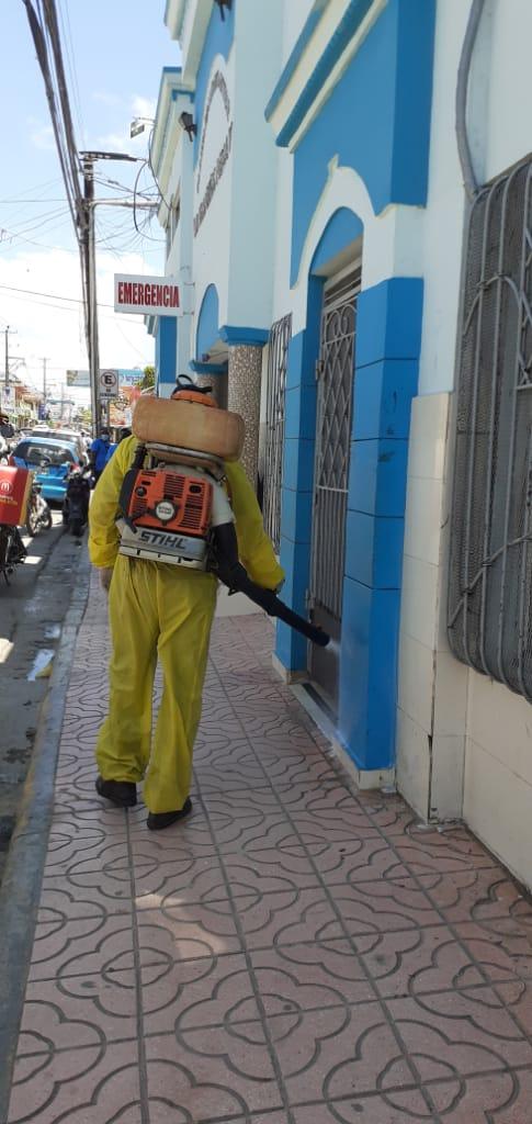 El Ayuntamiento  sigue con los  Operativos de Higienización y Desinfección de Instituciones ante contagio COVID19 en  San Pedro de Macorís.